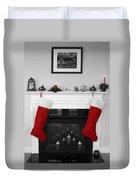 Jumbo Red Stockings Duvet Cover