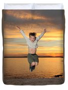 Jumping For Joy Duvet Cover by Ted Kinsman