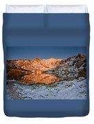 June Snowfall At Angel Lake Duvet Cover