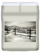 Just Beyond The Fence 2 Duvet Cover