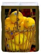 Just Lemons Duvet Cover