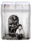 Kali In Benares Duvet Cover