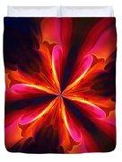 Kaliedoscope Flower 121011 Duvet Cover by David Lane