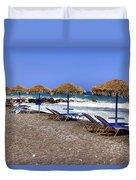 Kamari - Santorini Duvet Cover