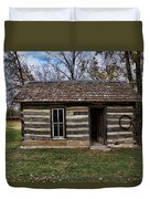 Kansas Log Cabin Duvet Cover