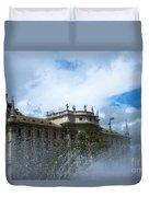 Karlsplatz Fountain Duvet Cover