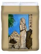 Karnak Temple Egypt Duvet Cover by Irina Sztukowski