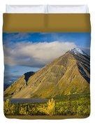 Kathleen Lake, Kluane National Park Duvet Cover
