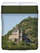 Katz Castle On A Hillside Duvet Cover