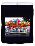 Kauai Carousel At Dusk Duvet Cover