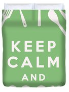 Keep Calm And Cook On Duvet Cover