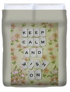 Keep Calm And Wish On Duvet Cover