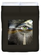 Keep Your Eyes On The Road Duvet Cover