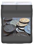 Kennedy Half Dollars I Duvet Cover