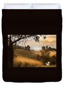 Kentucky Type Hayfields Duvet Cover
