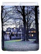 Kew Park At Dusk Duvet Cover