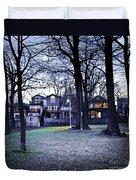 Kew Park At Dusk Duvet Cover by Elena Elisseeva