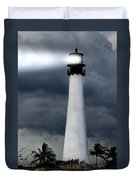 Key Biscayne Lighthouse Duvet Cover by Rudy Umans
