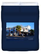 Key West Bar Sloppy Joes Duvet Cover by Susanne Van Hulst