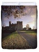 Kilkea Castle, Co Kildare, Ireland Road Duvet Cover