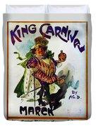 King Carnaval March - Mardi Gras Duvet Cover