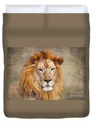King Of Beasts Portrait Of A Lion Duvet Cover