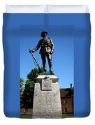 Kings Royal Rifle Corps Memorial In Winchester Duvet Cover