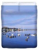 Kinnego Marina, Lough Neagh, Co Antrim Duvet Cover