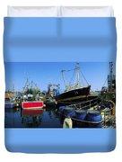 Kinsale, Co Cork, Ireland Fishing Boats Duvet Cover
