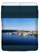 Kinsale, Co Cork, Ireland Moored Boats Duvet Cover