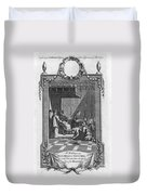 Kissing The Popes Feet Duvet Cover