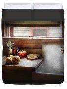 Kitchen - Sink - Farm Kitchen  Duvet Cover