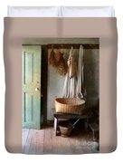 Kitchen Door In Old House Duvet Cover