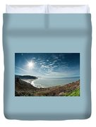 Klamath Overlook With Sun Duvet Cover