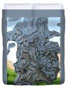 Knarly Tree Abstract Duvet Cover