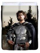 Knight In Shining Armour Duvet Cover by Yedidya yos mizrachi