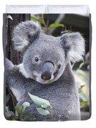Koala In Tree Duvet Cover