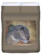 Koala Sleeping Duvet Cover by Betty LaRue