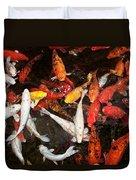Koi Fish Movement Iv Duvet Cover