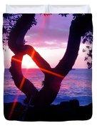 Kona Sunset Hawaii Duvet Cover