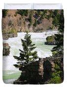 Kootenai Falls In Montana Duvet Cover