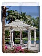La Quinta Park Gazebo Duvet Cover