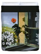 La Rosa Alla Finestra Duvet Cover by Guido Borelli