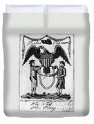 Labor Certificate, 1795 Duvet Cover
