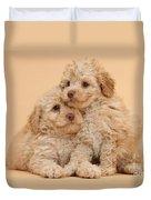 Labradoodle Puppies Duvet Cover