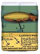Lady Bug Wiggler Duvet Cover