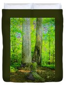 Lady In The Woods Duvet Cover
