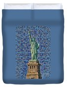 Lady Liberty Mosaic Duvet Cover