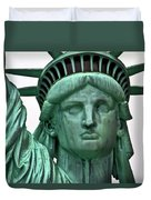 Lady Liberty Up Close Duvet Cover