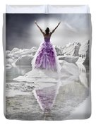 Lady On The Rocks Duvet Cover by Joana Kruse